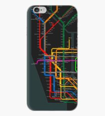 New York City dark subway map iPhone Case