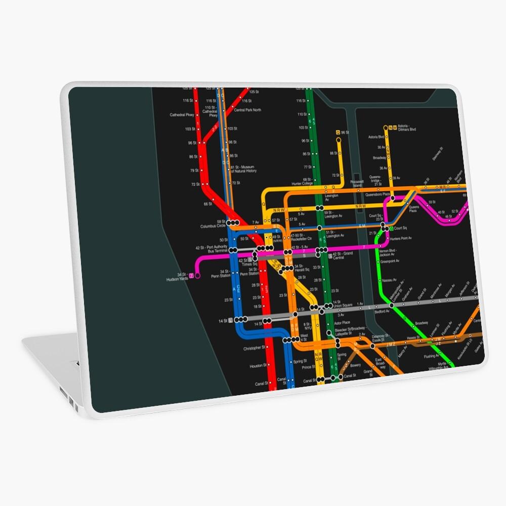 New York Subway vinyl Decal macbook skin subway sign