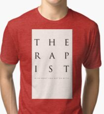 Mind What You Get On With. Tri-blend T-Shirt
