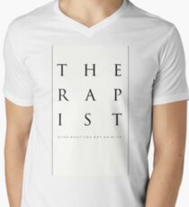 Mind What You Get On With. Men's V-Neck T-Shirt