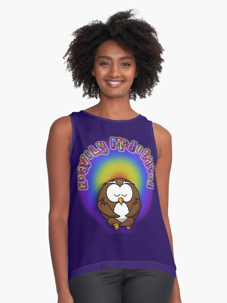 heavily meditated Contrast Tank Front