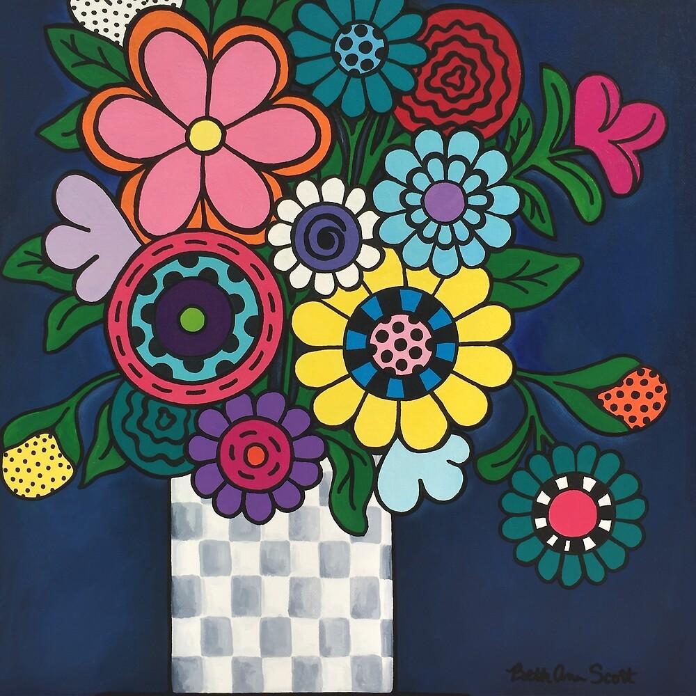 Checkered Bouquet by Beth Ann  Scott