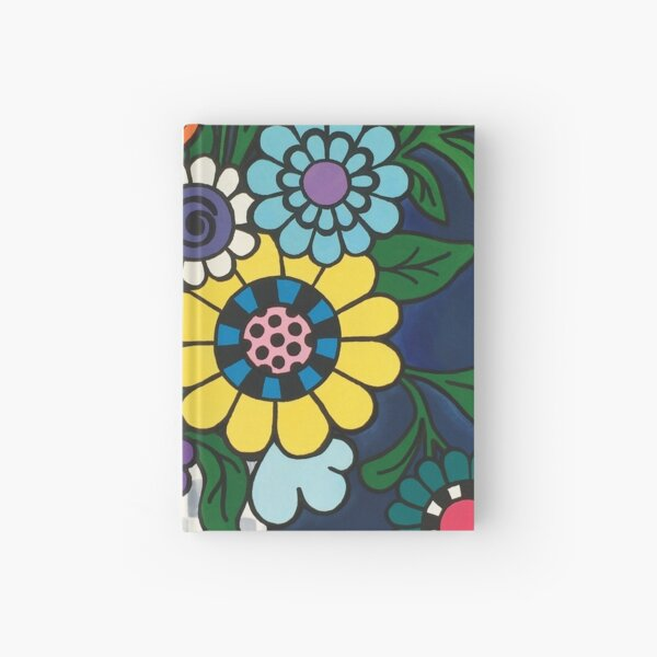 Checkered Bouquet Hardcover Journal