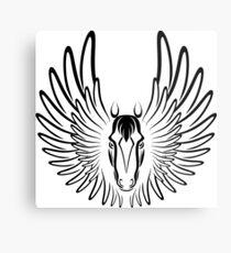 Pegaso (Black Version) Metal Print