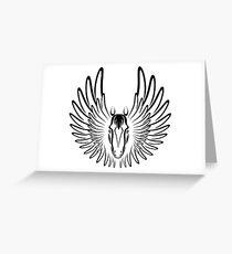 Pegaso (Black Version) Greeting Card