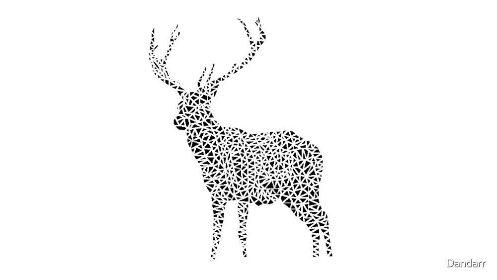 Polygon Deer by Dandarr