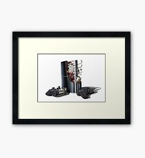 custom ps3 console art Framed Print
