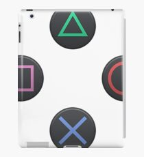 Playstation buttons iPad Case/Skin