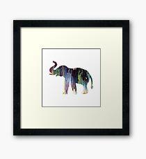 Elephant art Framed Print