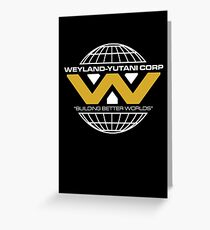 The Weyland-Yutani Corporation Globe - Clean Greeting Card