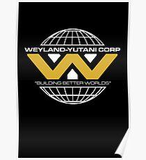 The Weyland-Yutani Corporation Globe - Clean Poster