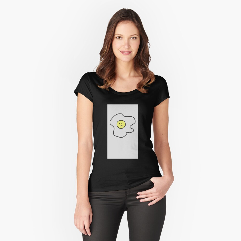 egg Women's Fitted Scoop T-Shirt Front