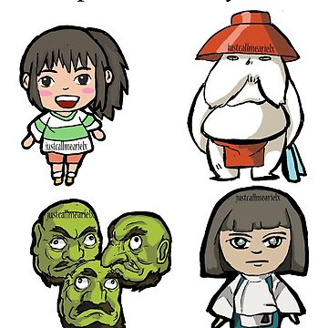 Spirited Away Characters by justcallmeariel