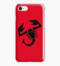 Abarth Scorpion Black iPhone Case/Skin