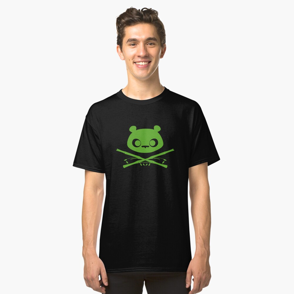 Panda Jolly Roger Classic T-Shirt Front