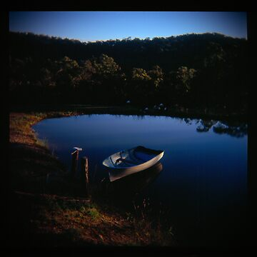 Holga madness.... little boat and reflection in daniland by JuileeP