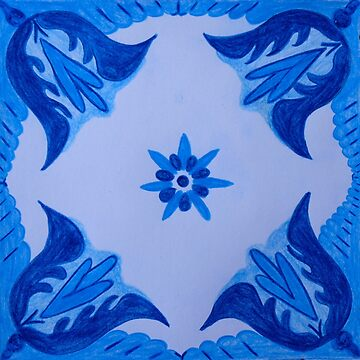 Blue Flowers - Inspired by Azulejos by samby