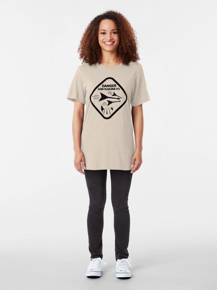 Alternate view of DANGER - LOW FLAILING V GUITARS Slim Fit T-Shirt