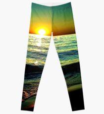 Hoher Kontrast Sonnenuntergang Leggings