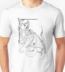 Girl and Dragon Unisex T-Shirt