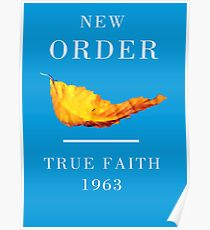 New Order Joy Division shirt True Faith  Poster
