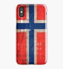Vintage Norwegian flag iPhone Case/Skin