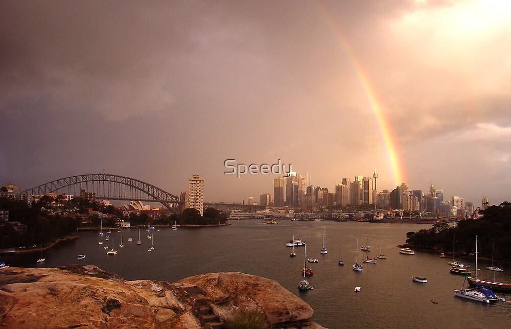 Rainbow over Sydney-1 by Speedy