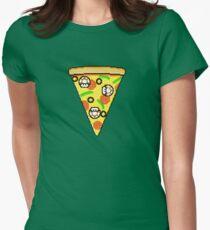 Mushroom pizza Womens Fitted T-Shirt
