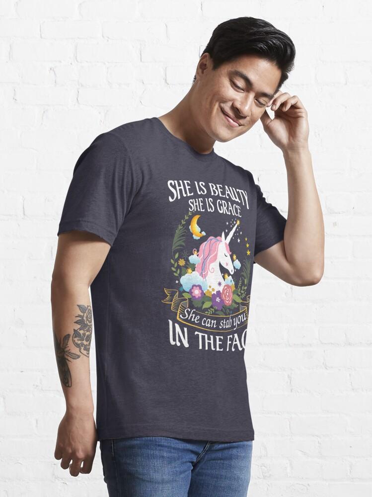 Alternate view of Funny Unicorn Shirt Essential T-Shirt