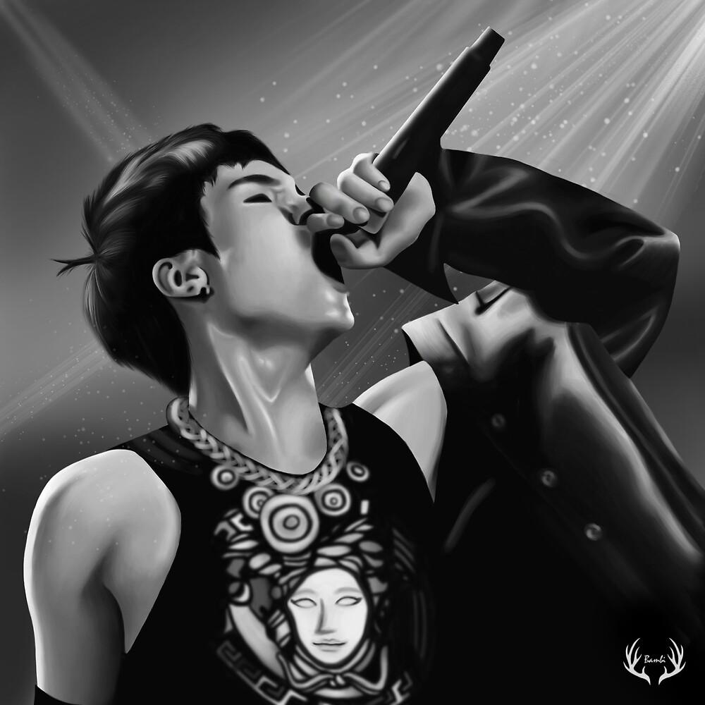 Yoongi On Stage by Yunhosbambi
