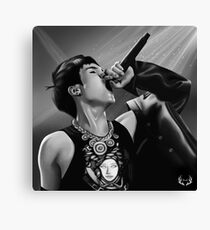 Yoongi On Stage Canvas Print