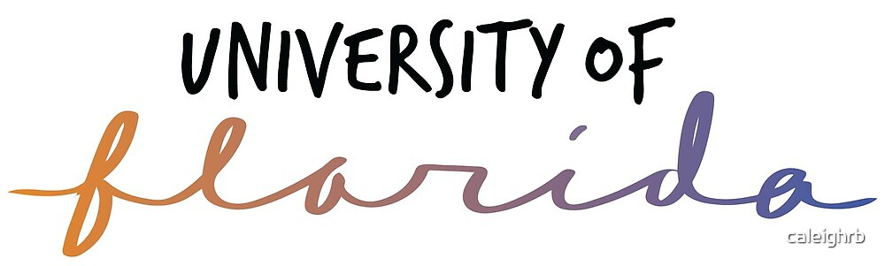 University of Florida - Ombre Gradient Script by caleighrb