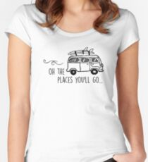 The places you'll go... Women's Fitted Scoop T-Shirt