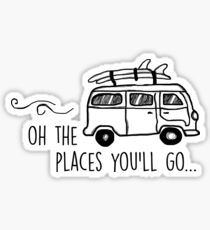 The places you'll go... Sticker