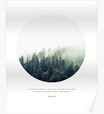 FOREST & Quote by John Muir Poster