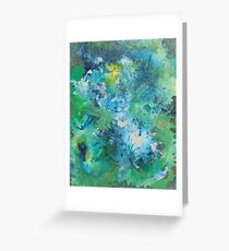 Blurred blues and greens Greeting Card