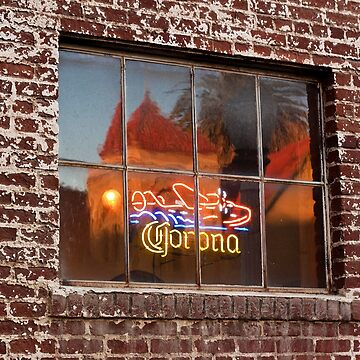 Corona Neon Window Sign by Buckwhite