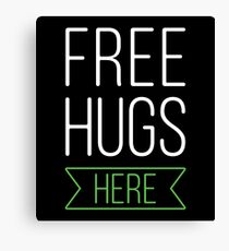 Free hugs White edition Canvas Print