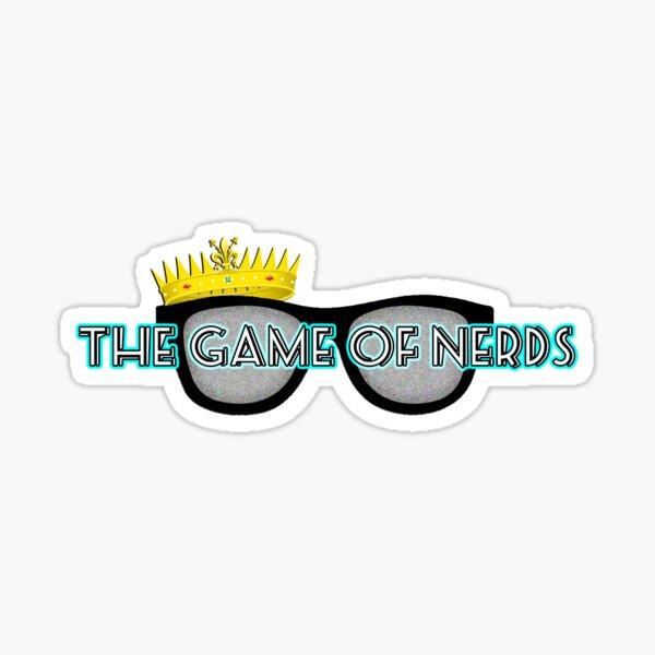 The Game Of Nerds Logo Sticker