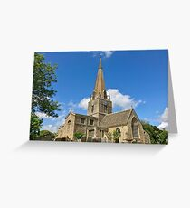 England - Oxfordshire - Bampton - St. Mary's Church Greeting Card