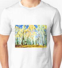 Aspen Trees in the Fall Unisex T-Shirt