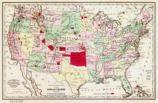 Map of Indian Tribes within the United States (1868) by allhistory