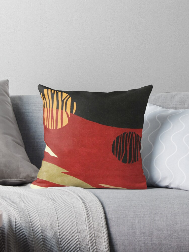 Art, Abstract, Modern, Red, Black and Tan by Melody Koert
