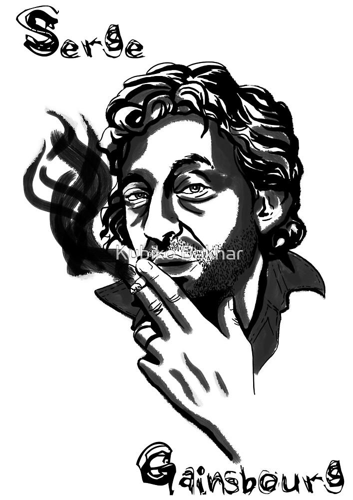 Serge Gainsbourg by Kubiko Bakhar