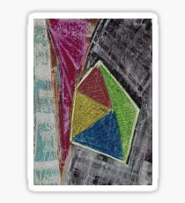 Geometry Oil Pastel Composition Sticker