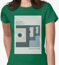 1984 Minimalist Alternate Book Cover Womens Fitted T-Shirt