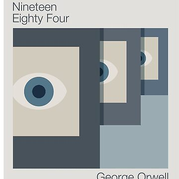 1984 Minimalist Alternate Book Cover by WASABISQUID