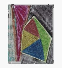 Geometry Oil Pastel Composition iPad Case/Skin