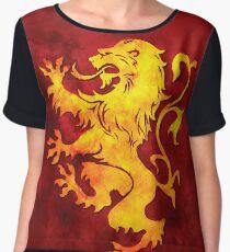 Heraldry Lion Chiffon Top