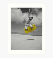 sandboarding man Art Print
